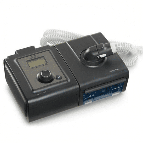 bipap autosv advanced with heated tube humidifier